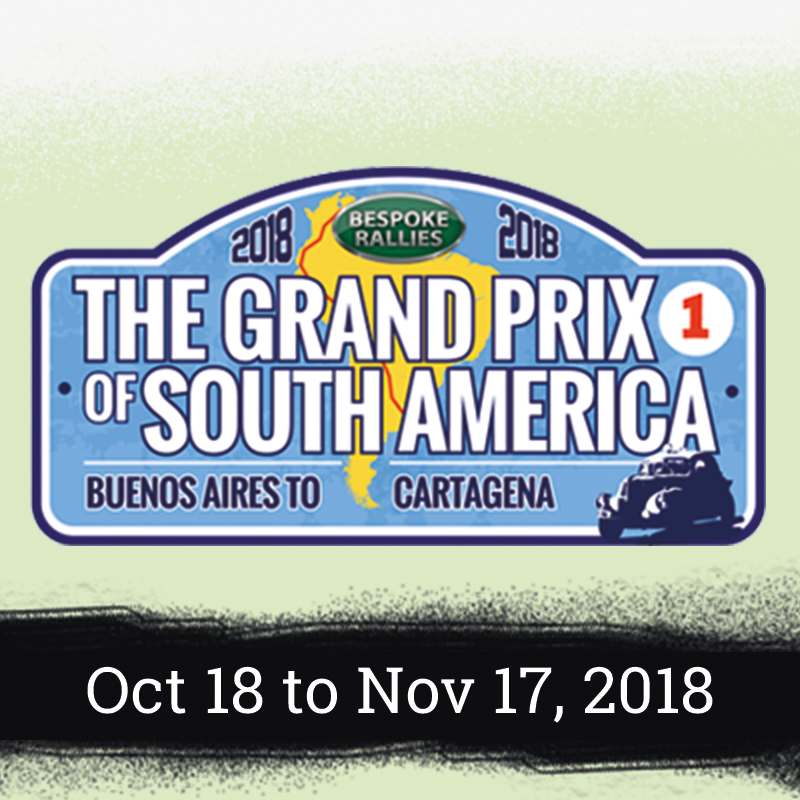 Bespoke Rallies - The Grand Prix of South America Rally 2018, Worldwide Classic Car Rally & Touring Events