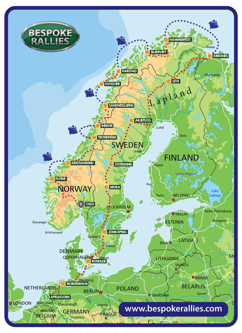 Bespoke Rallies - Slartibartfast Rally 2019, Worldwide Classic Car Rally & Touring Events