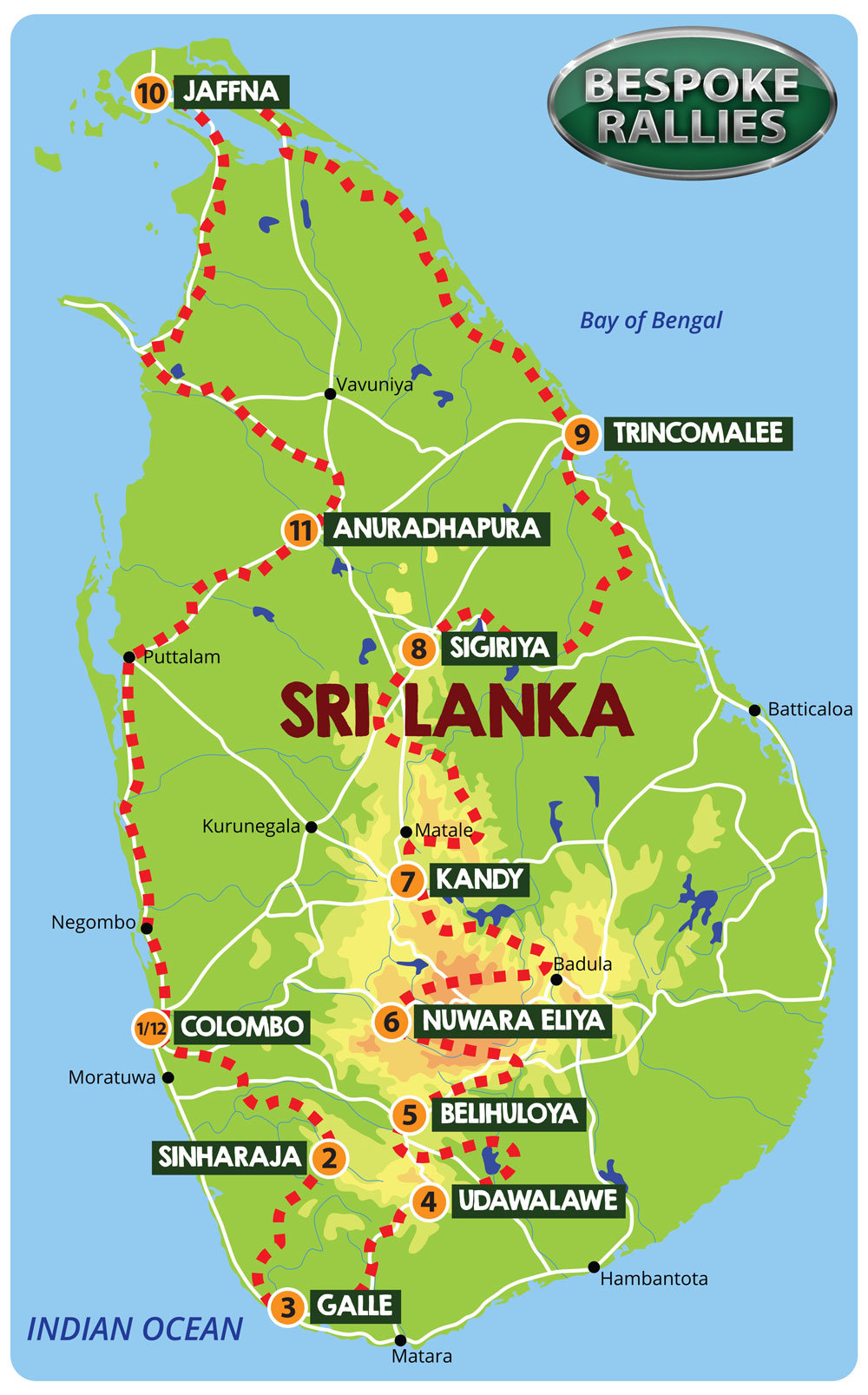 Bespoke Rallies - Sri Lanka Rally 2020, Worldwide Classic Car Rally & Touring Events