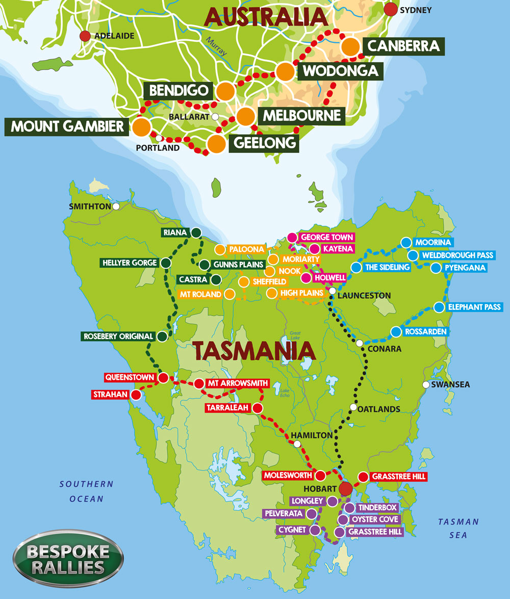 Bespoke Rallies - The Tiger Tasmania Rally 2020, Worldwide Classic Car Rally & Touring Events