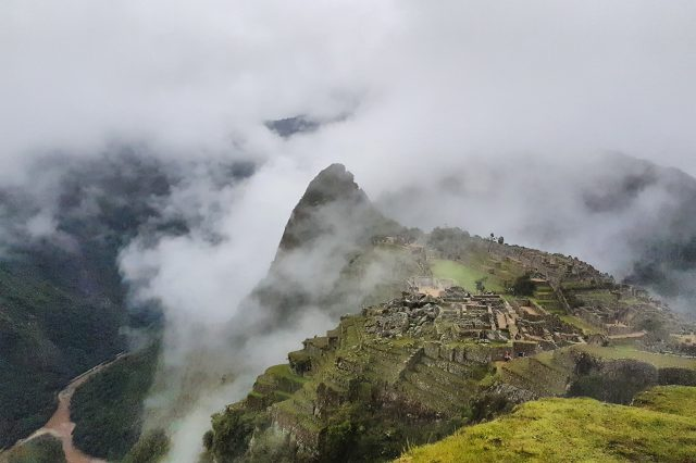 machu picchu in the clouds