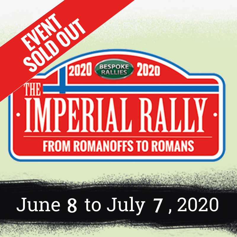 Bespoke Rallies   The Imperial Rally 2020   Classic Car Rally & Touring Event   June 8 to July 7 2020
