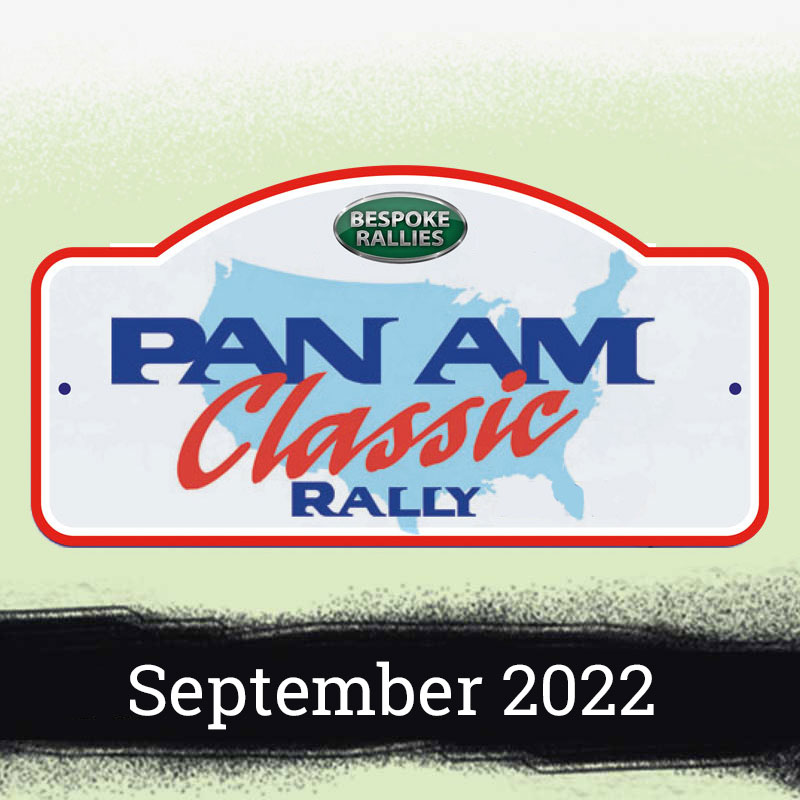 Bespoke Rallies   Pan Am Classic Rally 2022   Classic Car Rally & Touring Event   May 2022